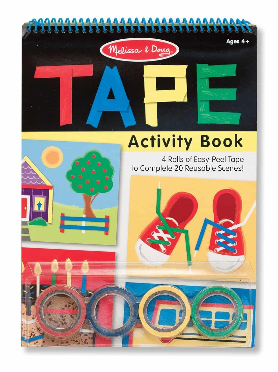 10+ Awesome Ways to Entertain your Kids on a Roadtrip: Tape Activity Book| www.thepinningmama.com