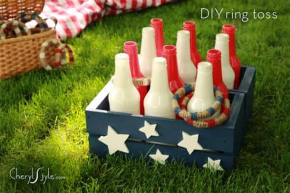 10+ Crazy Fun Outdoor Games Perfect for a Backyard Barbecue: DIY Ring Toss | www.thepinningmama.com