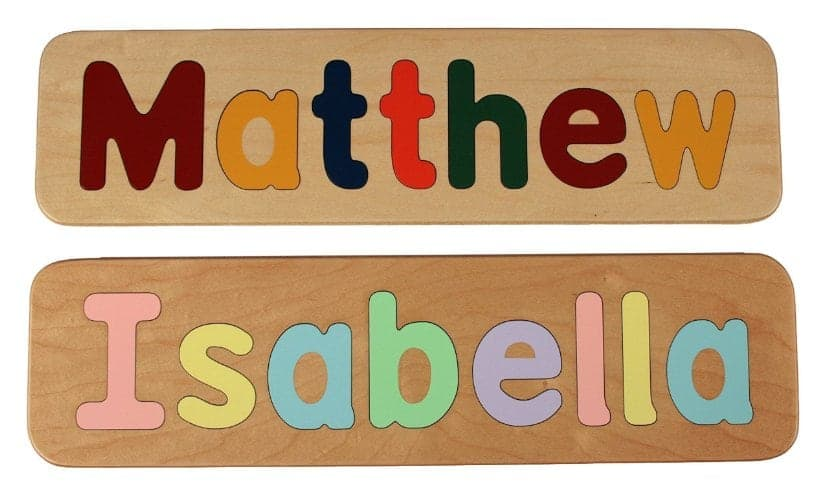 10+ Beautiful Handmade Baby Gifts: Name Puzzle | www.thepinningmama.com