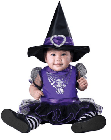 10+ Cutest Halloween Costumes for Baby Girl : Witch | www.thepinningmama.com