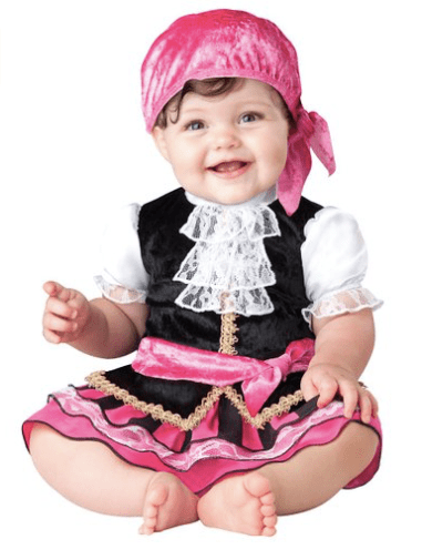 10+ Cutest Halloween Costumes for Baby Girl : Pirate | www.thepinningmama.com