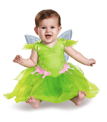 10+ Cutest Halloween Costumes for Baby Girl : Tinkerbell | www.thepinningmama.com