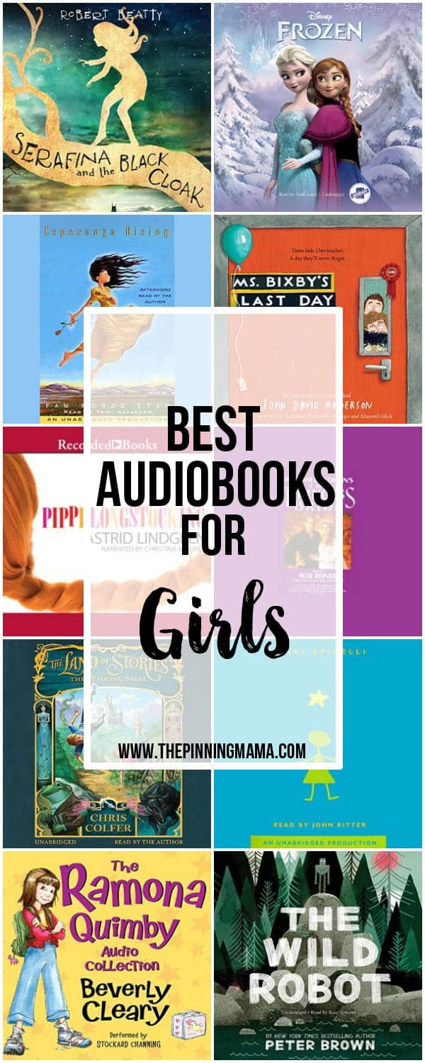 Best Audiobooks for Girls - Great collection of audio book ideas for kids!