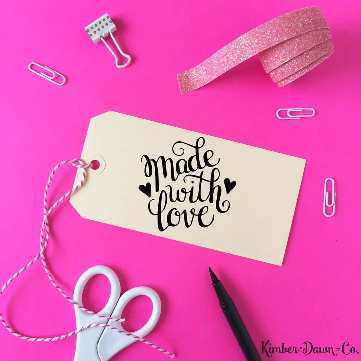 Made with Love - Free Cut File for Silhouette CAMEO + Cricut crafts