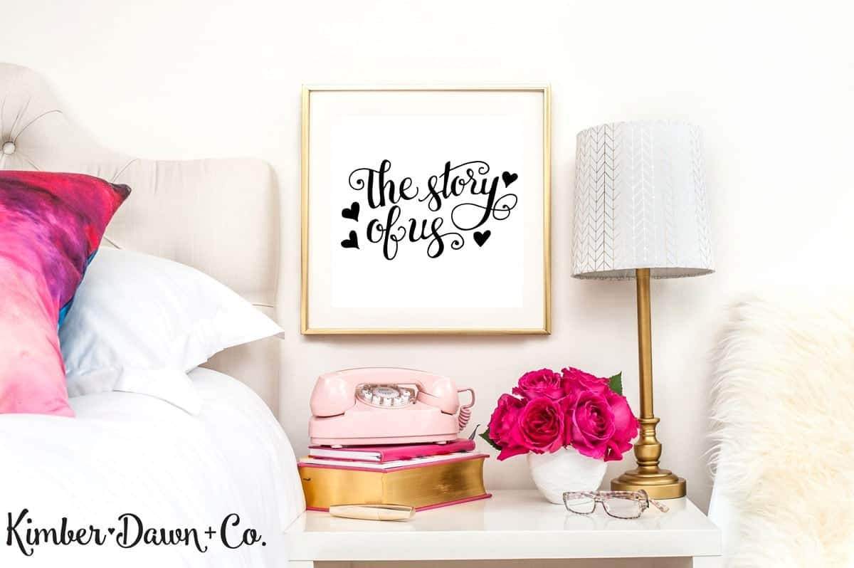 The Story of Us - Free Cut File for Silhouette CAMEO + Cricut crafts
