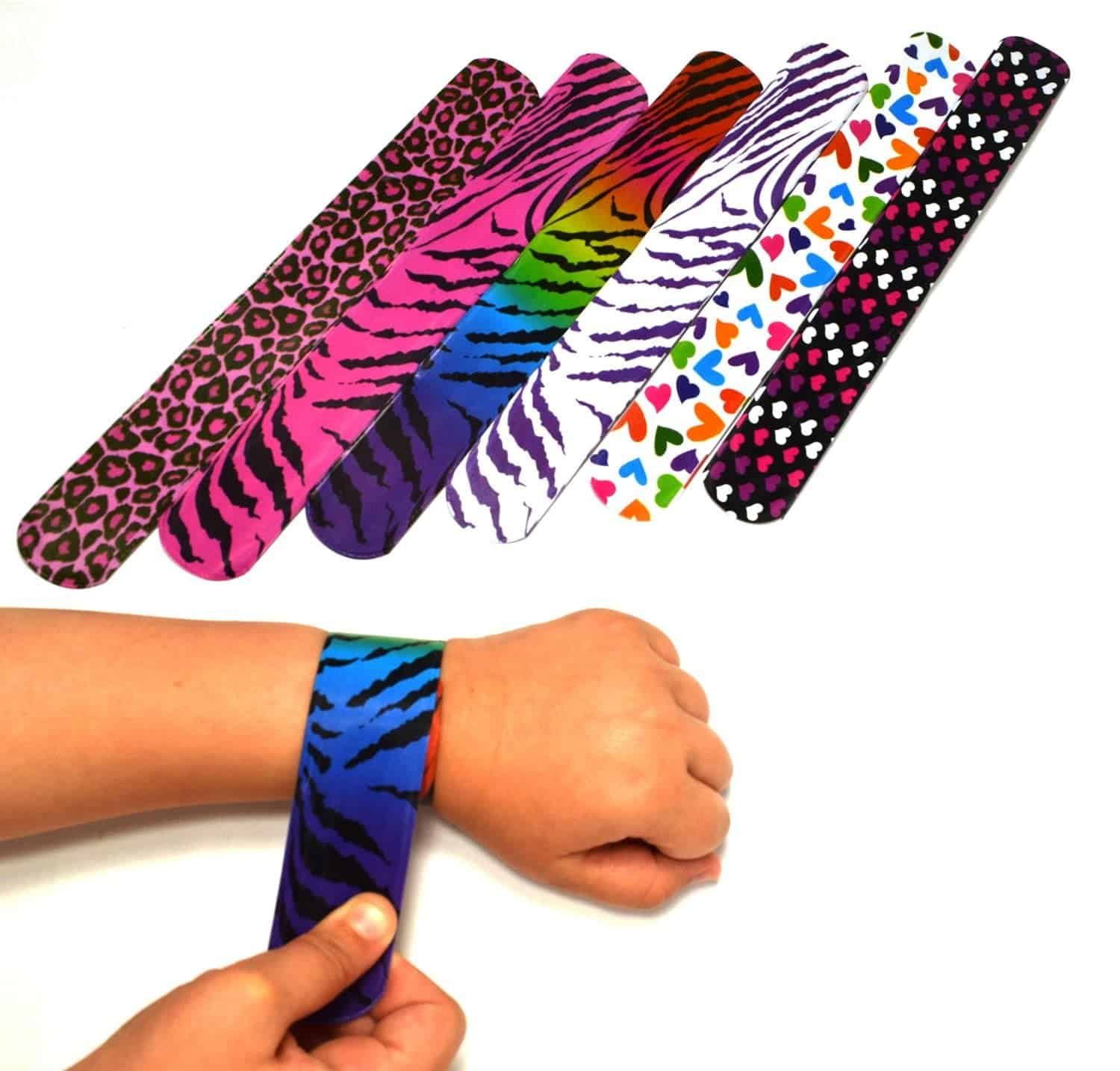10+ Great Halloween Treats to Give out that Aren't Candy: Slap Bracelets | www.thepinningmama.com