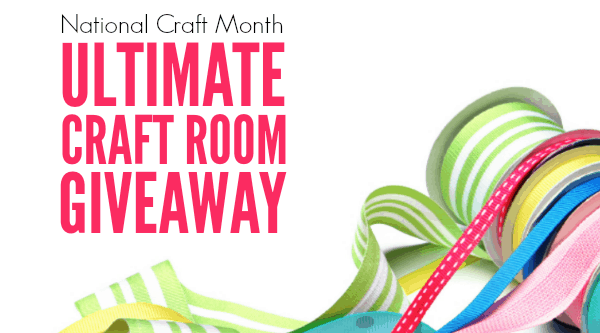 The Ultimate Craft Room Giveaway!  Enough stuff to stock an entire craft room!