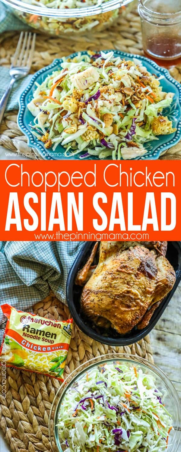 Asian Chopped Chicken Salad Recipe with Ingredients
