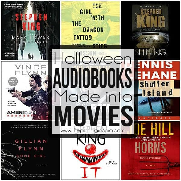 A great list of Audiobook turned movie thrillers for halloween!
