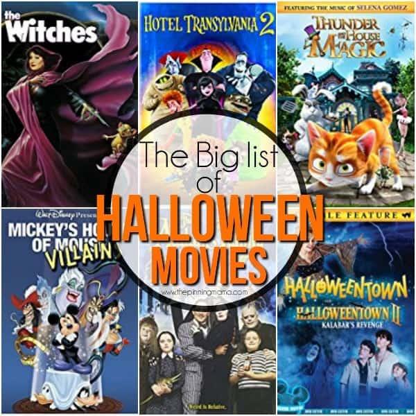 Big List of Halloween Movies
