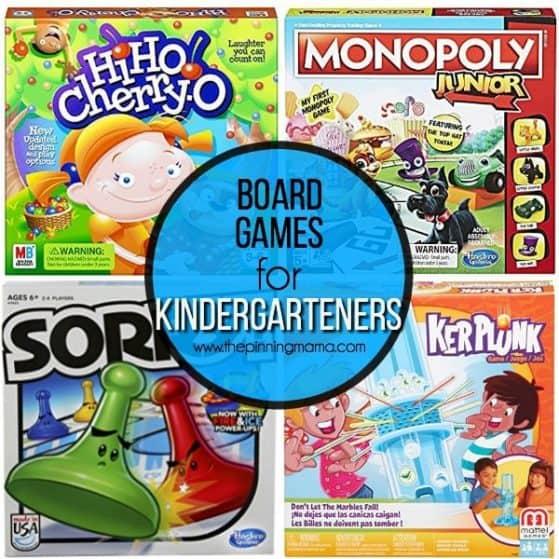 kindergarteners list of board games