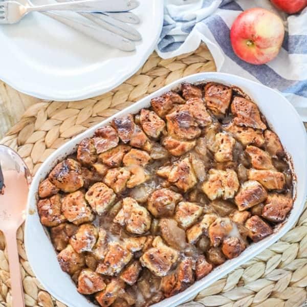 Apple Breakfast casserole with glaze