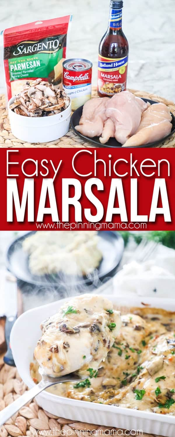 Easy Chicken Marsala- Only a few ingredients