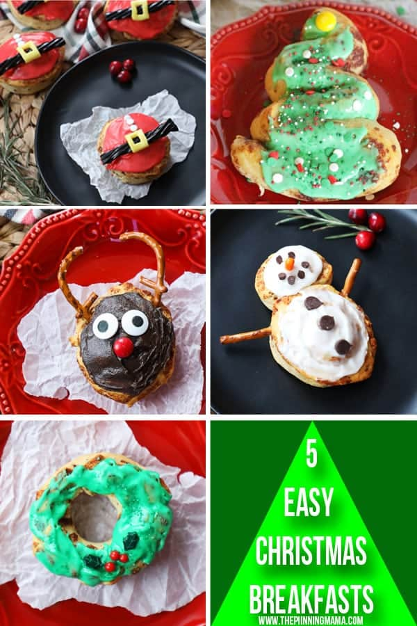 These 5 fun Christmas Breakfast Ideas are perfect for the holidays!