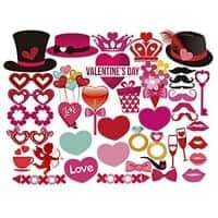 Valentine props for photo booths at school parties.