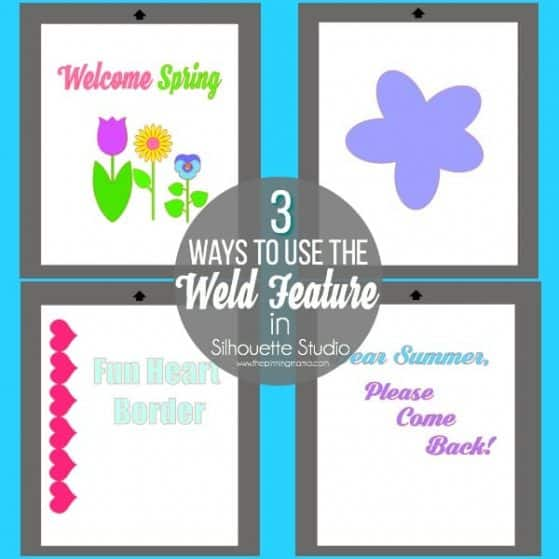 3 great ways to use the Weld Feature in Silhouette Studio.