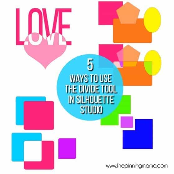 5 different ways to use the divide tool in Silhouette Studio.