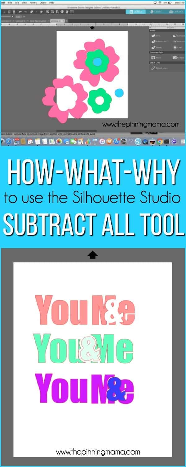How-What-Why to use the Subtract All Tool in Silhouette Studio.