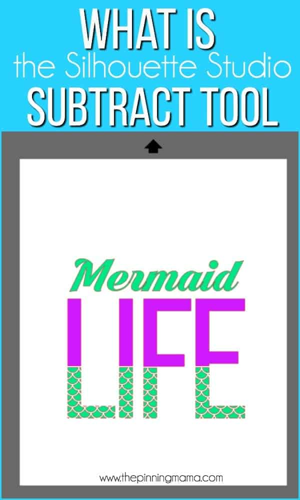 What is the Subtract tool in Silhouette Studio