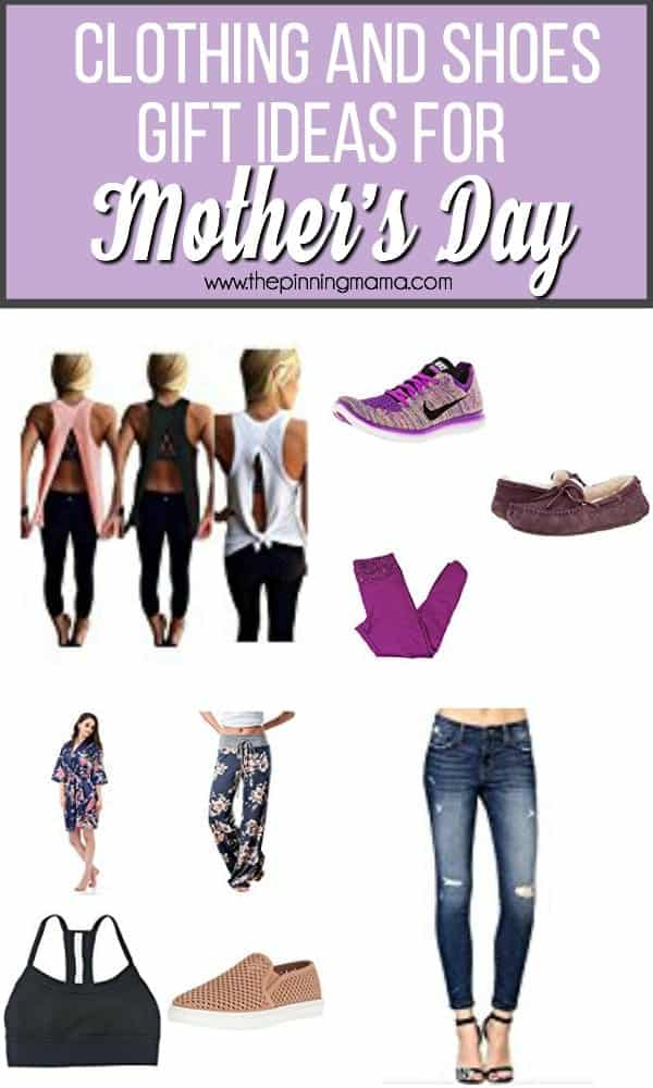 Clothing and Shoes gift ideas for Mother's Day.