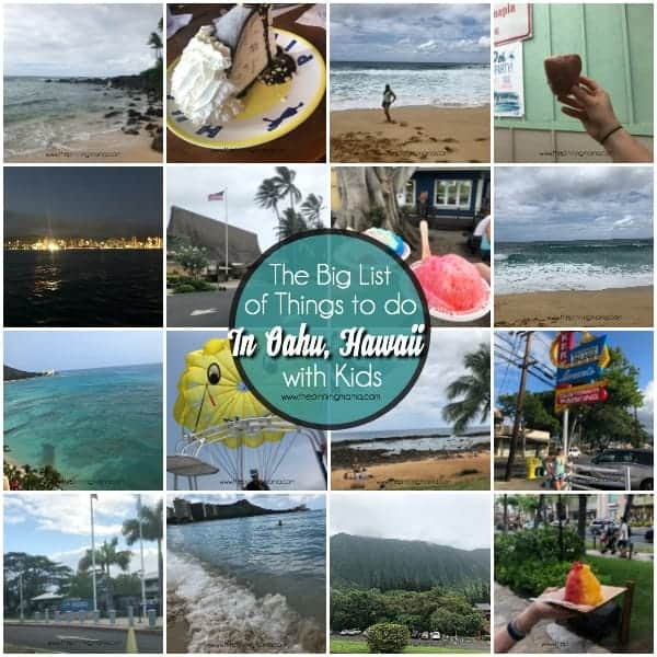 The BIG list of things to do in Oahu, Hawaii.