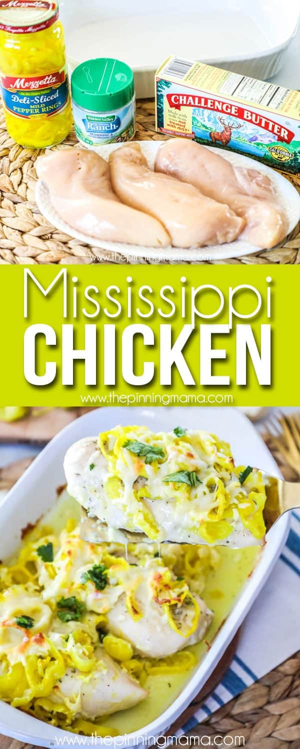 Easy + Delicious Mississippi Chicken Recipe