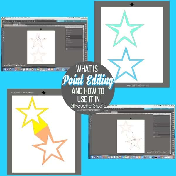 What is Point Editing and how to use it in Silhouette Studio.