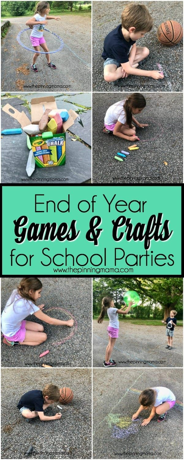 Ideas for End of Year school parties and crafts.