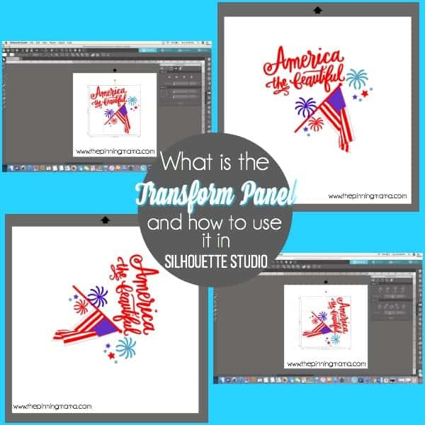 What is the Transform panel and how use it in Silhouette Studio.