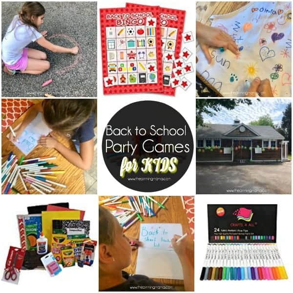 Fun Back to School Party Games with Kids.