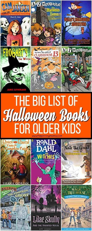 The Big List of Halloween Books for older KIDS.