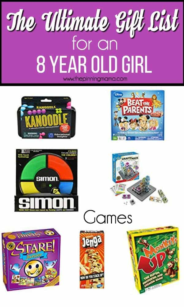 The Ultimate gift guide for an 8 year old girl, games.