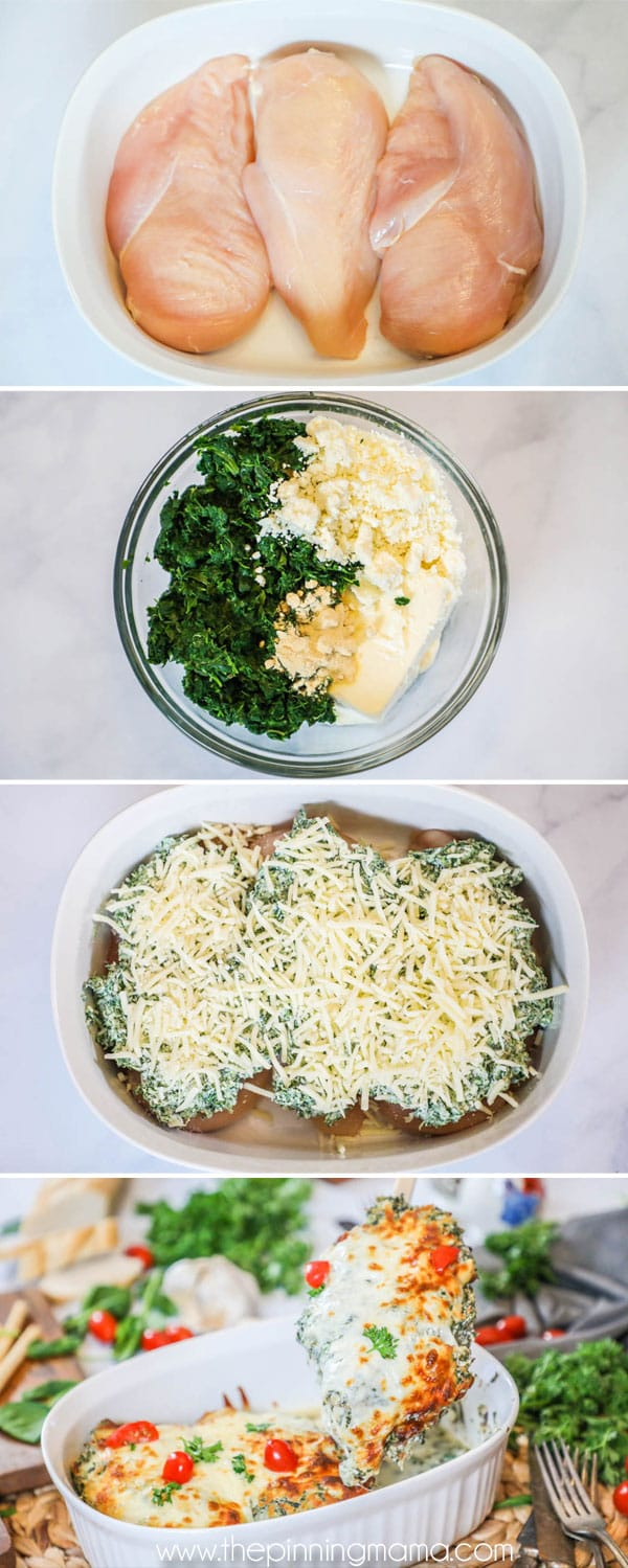 How to Make Chicken with Spinach and Feta
