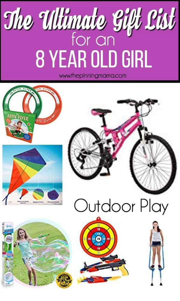 Ultimate gift list for an 8 year old girl, outdoor play gift ideas