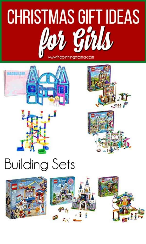 Christmas Gift ideas for Girls, Building Sets including legos.