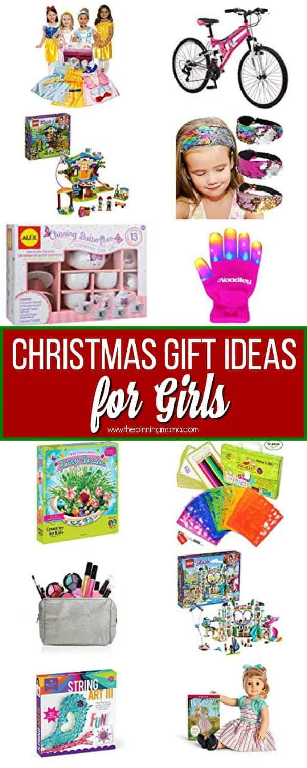 The Big List of Christmas Gifts Ideas for GIRLS. Find the everything form pretend play, electronics, and outdoor play.