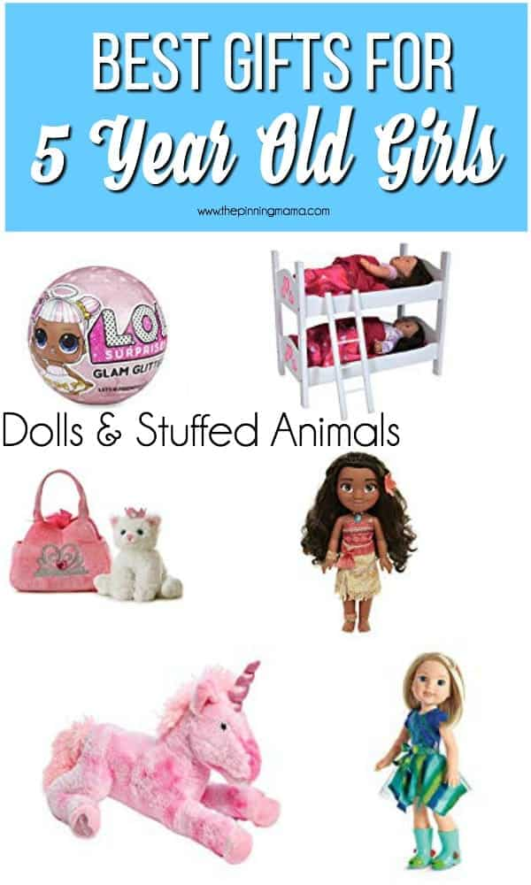 Best Gift Ideas for 5 Year Old Girls, Dolls & Stuffed Animals