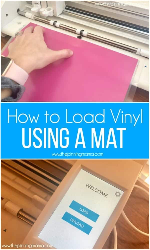 How to Load Vinyl with a mat using a Silhouette CAMEO