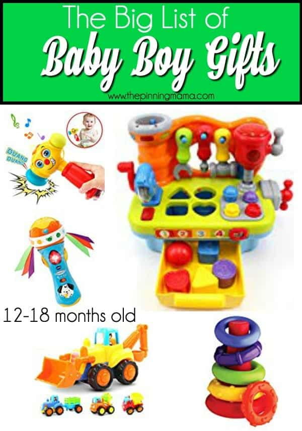 The Big List of Gift Ideas for 12-18 month of baby boys.