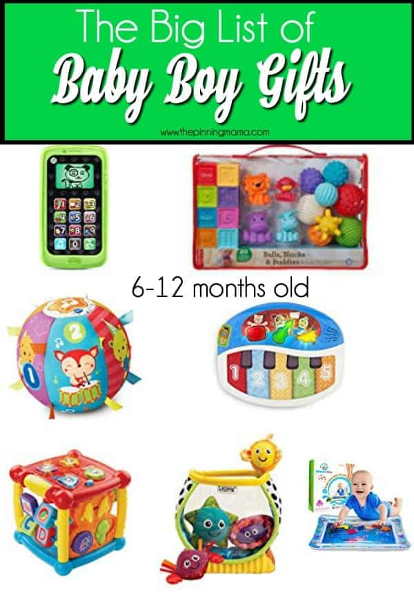 Gift list for baby boys 6-12 months old.