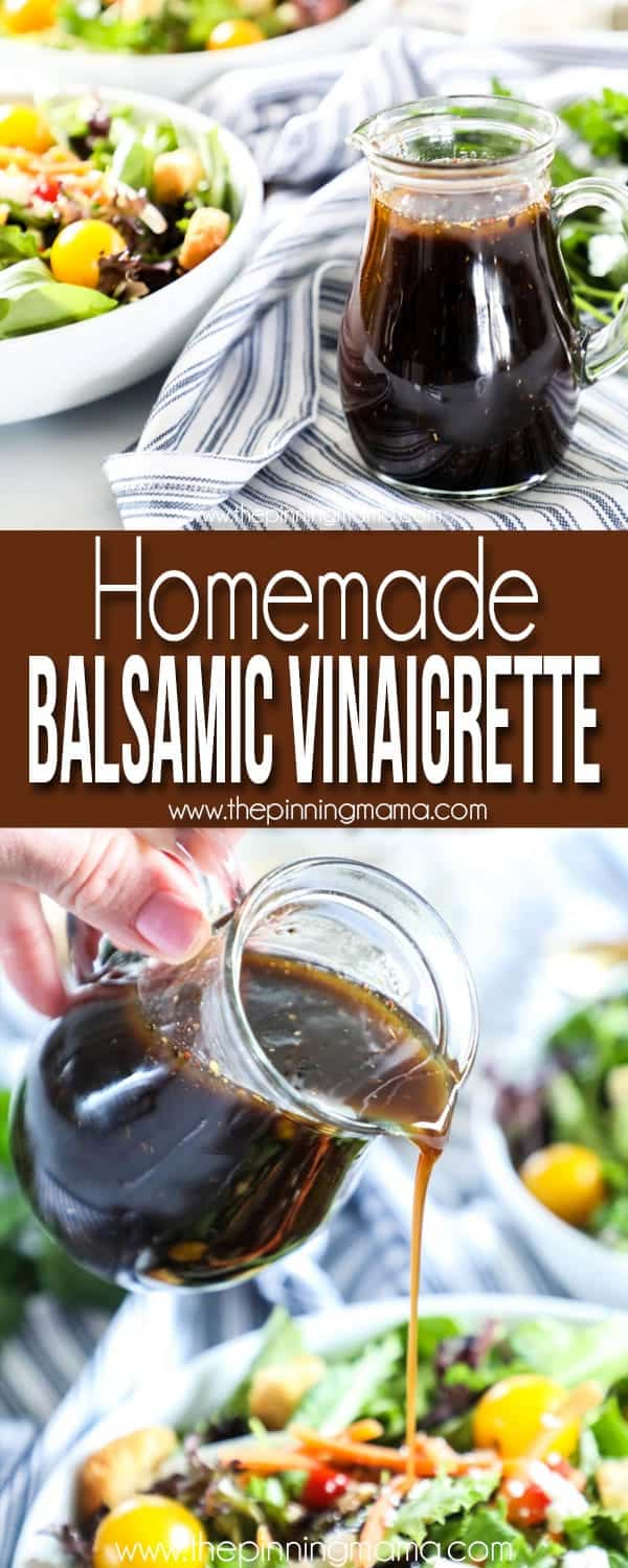 Try this delicious Homemade Balsamic Vinaigrette, it goes great on salads and with veggies.