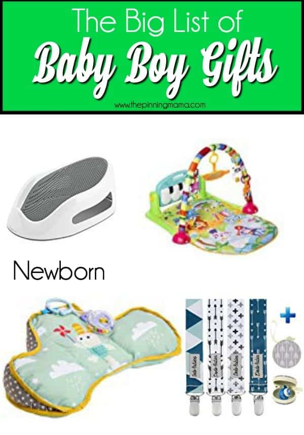 The Big List of Newborn Gifts for Baby Boys.