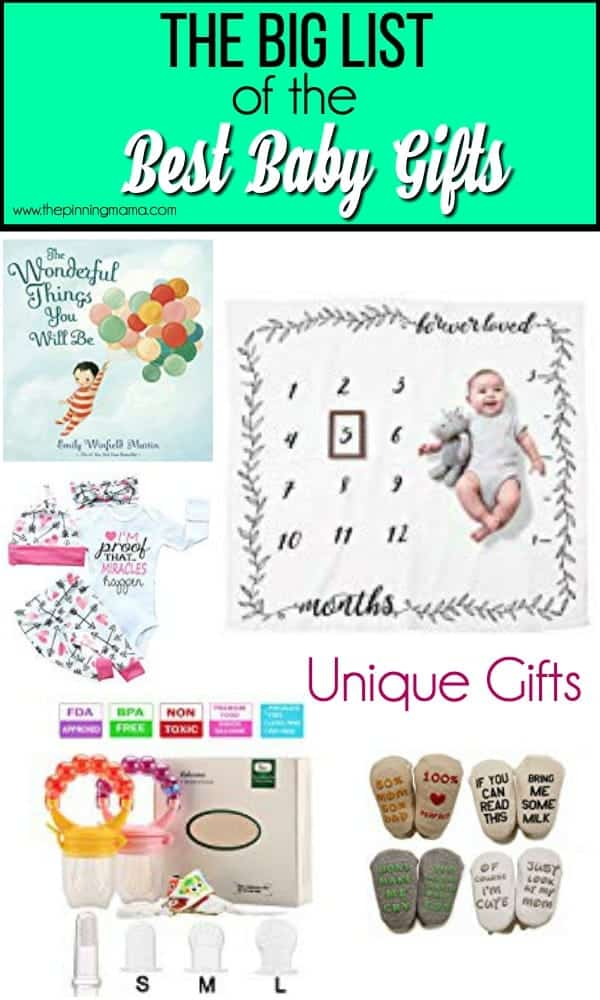 The Big List of Unique Gift Ideas for babies