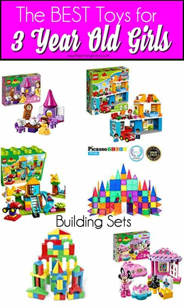 The Big list of building Set toys ideas for 3 year old girls.