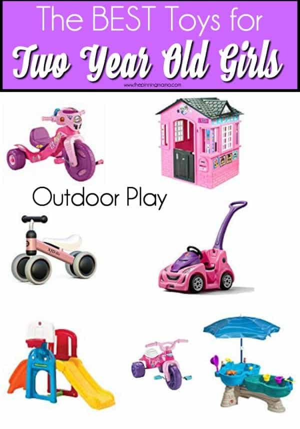 Outdoor toys for 2 year old girls.