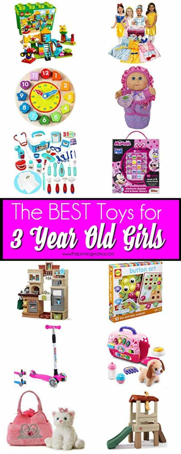 The BEST Toys for 3 year old girls.