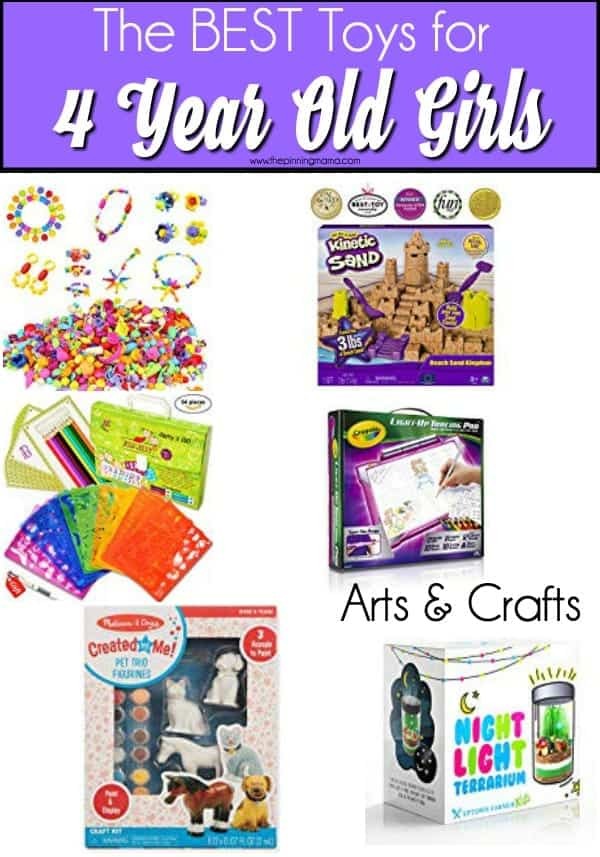 The BIG list of Arts & Crafts for 4 Year Old Girls.