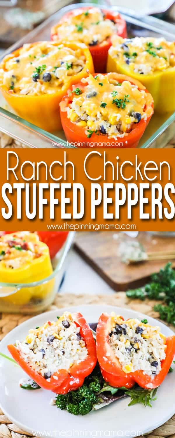 These ranch chicken stuffed peppers are loaded with flavor.