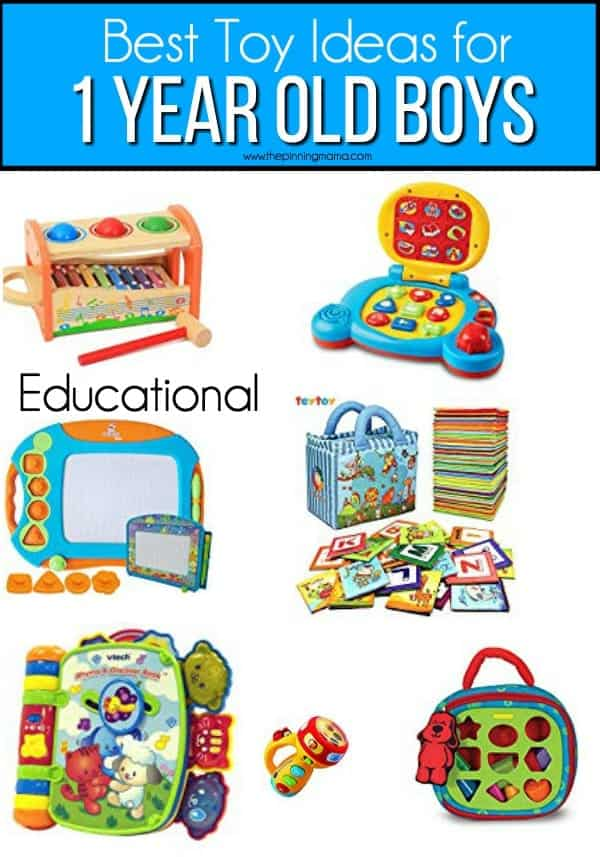 The best list of educational toy ideas for 1 year old boys.