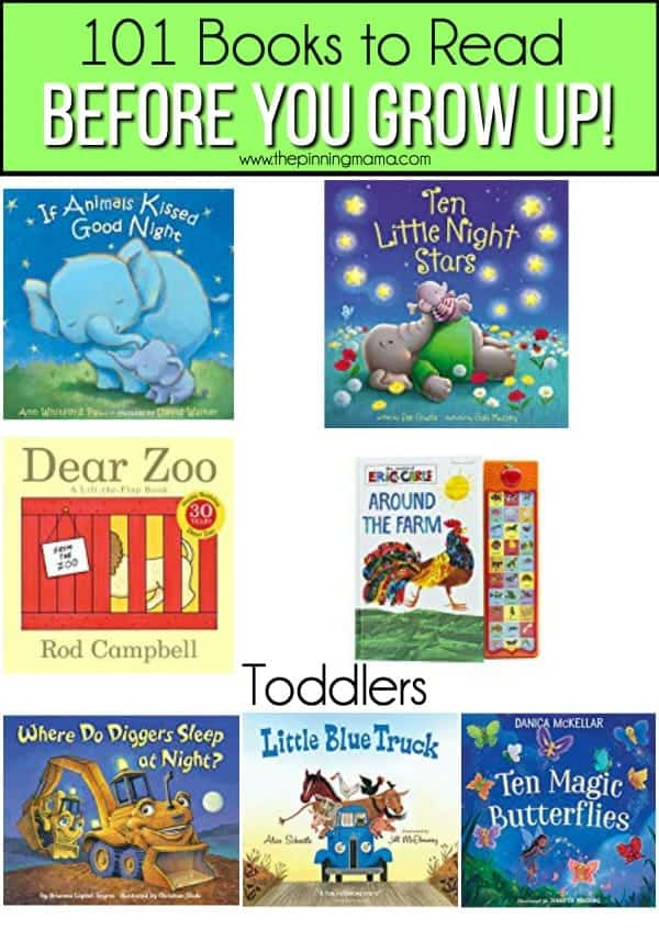 Great books for to read to toddlers.